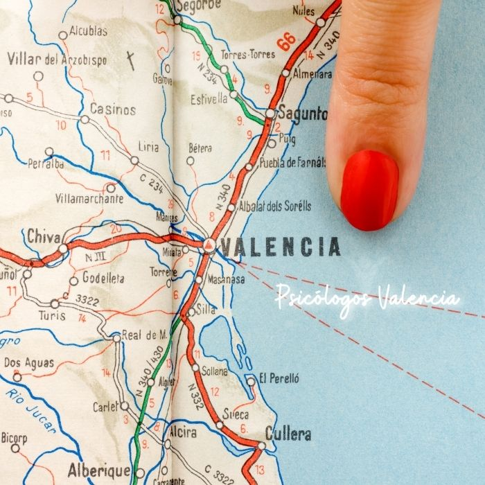 Llegar a Psicólogos Valencia